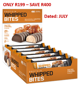 ON Whipped Bites Protein Bars (Box of 12) - Salted Caramel