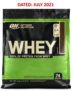 Optimum Nutrition 100% Whey Pouch 2kg (Jul`21) R499